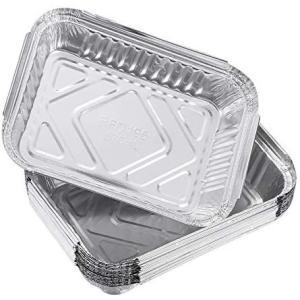 OUNONA アルミバーベキュープレート バーベキュードリップパン 570ml 30枚 (シルバー) tenbin-do