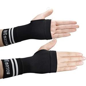 BIG masow 手首 サポーター リストバンド 腱鞘炎 手根管症候群 保護 着圧設計 手首のケガ 抗菌防臭 吸汗速乾 (Black L)|tenbin-do