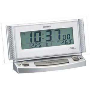 CITIZEN シチズン 目覚まし時計 電波時計 音声アラーム パルデジットボイス2 8RZ102-019 (ホワイト)|tenbin-do