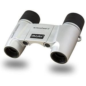 Ollplus+ フリーフォーカス オートフォーカス 双眼鏡 防水規格 IPX7 光学プリズム採用 シルバーホワイト ピント合わせが不要なので tenbin-do