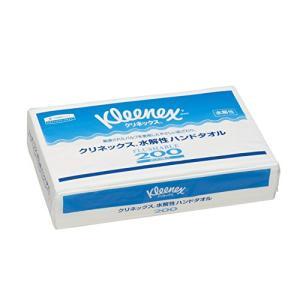 <ケース販売> クレシア クリネックス 水解性 ハンドタオル 中判サイズ (トイレに流せる水解性) 200枚/パック ×35パック入 (ホワイト)|tenbin-do