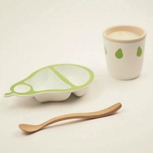 マストロ・ジェッペット オーガニック素材のテーブルウェア BIOプラスチック食器/PERA(ペーラ)ファーストセット tenbin-do