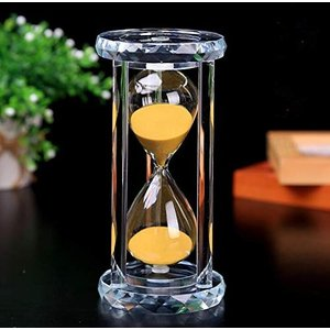 Batreetek 砂時計 サンドタイマー 時計 ガラス 砂タイマー ゲーム 料理 運動 お風呂 インテリア飾り物 (ゴールデン(30分))|tenbin-do
