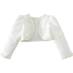 (フォーペンド)Forpend ボレロ 子供 入学式 女の子 結婚式 発表会 100 110 120 130 140 150(ホワイト 100)|tenbin-do