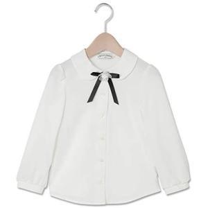 [CHOPIN deux(ショパン ドゥ)] 子供服 女の子 喪服 フォーマル リボン付きブラウス/長袖 キッズ (ホワイト 120) tenbin-do