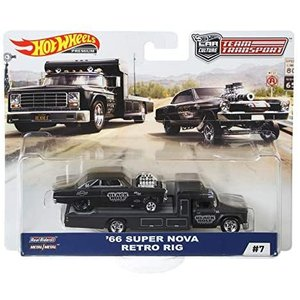 HW チームトランスポートChevy Super Nova 66 with Retro Rig(マテ...