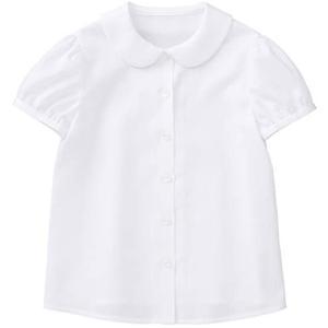 [CHOPIN(ショパン)] 小学校 受験 子供服 女の子 8993-2301 丸襟コットンピケブラウス 半袖 100 (ホワイト 130) tenbin-do