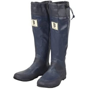 (BW-03)日本野鳥の会 バードウォッチング長靴 レインブーツ/ラバーブーツ ネイビー L (ブルー)|tenbin-do