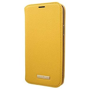 "GRAMAS COLORS iPhone 12 / iPhone12 Pro 用 ケース 6.1"" インチ""Shrink"" PU (Lemon) tenbin-do"