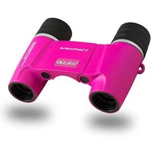 Ollplus+ フリーフォーカス オートフォーカス 双眼鏡 防水規格 IPX7 光学プリズム採用 ローズピンク ピント合わせが不要なので tenbin-do