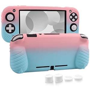 switch liteカバー 任天堂 スイッチライト ケース Nintendo シリコン素材 ソフトカバー 柔らかい 一体式(ライトピンク/ブルー) tenbin-do