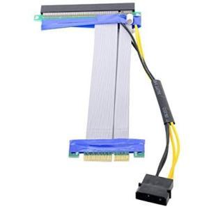 Cablecc PCI-E Express 4x to 16x Flex Cable Extender Converter Riser Card tenbin-do