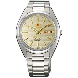 <オリエント時計> 腕時計 機械式 メカ スリースター ThreeStar FAB00007C9 逆輸入品 (文字盤色-ゴールド)|tenbin-do