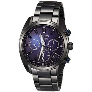 <セイコーウォッチ> 腕時計 アストロン SBXC077 メンズ ブラック (文字盤:ダークブルー)|tenbin-do