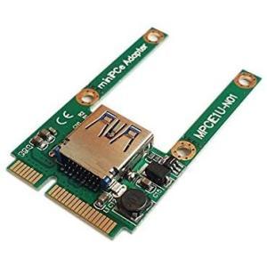 小型のUSB機器(マウスUSBレシーバ、USB WiFiアダプタ、USB Bluetoothアダプタなど ) 用 USB 2.0 → mini PCI tenbin-do