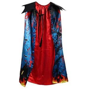 Selling-goodsハロウィン 子供マントドレスアップ ホラーダブル印刷ケープ キャッスル バットコスプレ 衣装 バットコスプレマント|tenbin-do