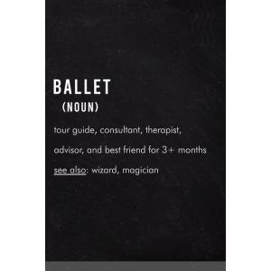 Ballet Definition: Ballet hobby - Funny Lined Notebook Gift Idea for Women, tenbin-do