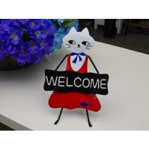 猫 セール品 ネコちゃんWELCOMEボード tencoo