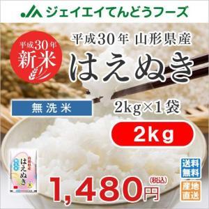 米 お米 2kg 無洗米 はえぬき 山形県産 29年産...