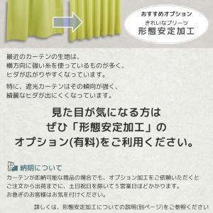 カーテン 遮光2級 防炎加工 つた柄ジャガード5153ストライプグリーン イージーオーダー幅35〜100×丈201〜280cm 1枚入 受注生産A tengoku 03