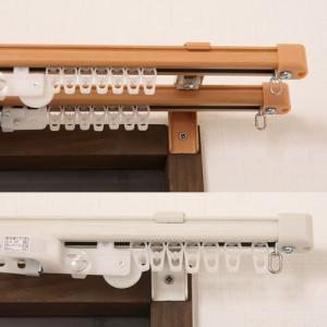 カーテンレール ダブル 送料無料 金属カーテンレール伸縮タイプ2m用(1.1〜2.0m)ダブル(2本連結タイプ) 同梱不可商品z|tengoku