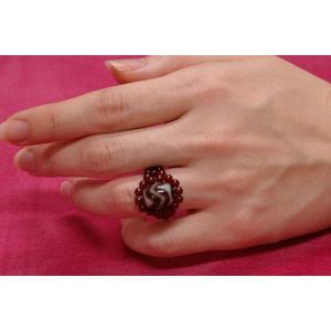 水紋天珠指輪 tenjyu