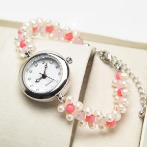 オシャレな天然石腕時計が新登場♪ アクセサリー感覚で個性的に演出しているため、ファッションとしてもg...