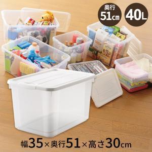 ワンタッチで開閉できるロックが付いた収納ボックスです。ぬいぐるみやボールなど、大きめの物の収納におす...