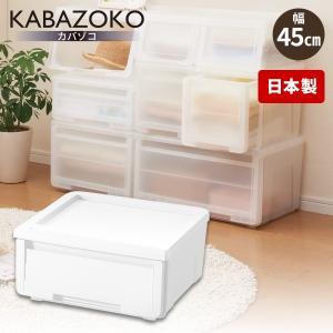 天馬 プロフィックス カバゾコ モノ 45 ホワイト 収納ケース 衣装ケースの写真