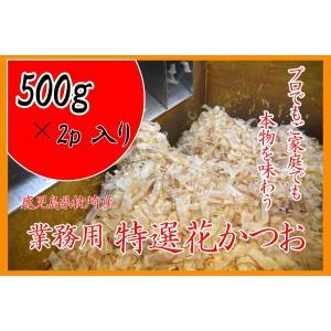 業務用 枕崎産鰹節 薄削り 削り節専門店の特選花かつお500g×2p|tenmaya-katsuo