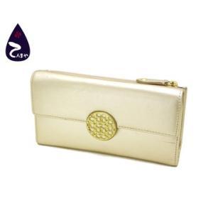 コーチ(COACH) レザー(ゴールド) スリムエンベローブ 三つ折り長財布 型番:F46148|tenmaya78