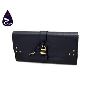 クロエ(Chloe) レザー(ブラック) オーロラ 二つ折り長財布 パドロック付 型番:3P0144|tenmaya78