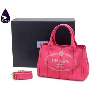 プラダ(PRADA) キャンバス:ペオニア(ピンク) カナパ ミニトートバッグ (型番:B2439G)|tenmaya78