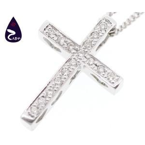 K18WG ダイヤクロスネックレス 約3.5g|tenmaya78