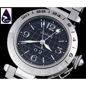 カルティエ パシャC メリディアン GMT ビッグデイトW31049M7 (ユニセックス 自動巻き)|tenmaya78