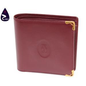 カルティエ カーフ(ボルドー) マストライン 二つ折り財布 型番:L3000451|tenmaya78