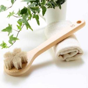 白馬毛のボディブラシ(江戸の伝統ブラシ職人が作った天然素材100%のボディブラシ)|tennen-sponge
