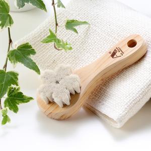 山羊毛の洗顔ブラシ(江戸の伝統ブラシ職人が作った天然素材100%の洗顔ブラシ)|tennen-sponge