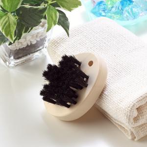 黒馬毛のシャンプ―ブラシ・スカルプブラシ(江戸の伝統ブラシ職人が作った天然素材100%のブラシ)|tennen-sponge