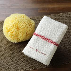 和紡布・健康ボディタオルと天然海綿ボディスポンジのお買得セット|tennen-sponge
