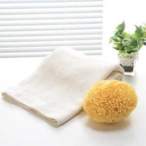 和紡布・バスタオルと天然海綿ボディスポンジのお買得セット|tennen-sponge