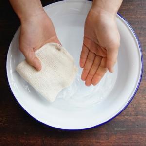 化粧落とし(4枚組)/タオルハンカチ <和紡布・オーガニックコットンタオル>|tennen-sponge