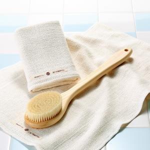 和紡布・健康ボディタオル <オーガニックコットン100%の平織りタオル> tennen-sponge 05