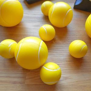 大きいスポンジテニスボール(ウレタン素材)
