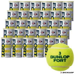 【10%ポイント対象商品:10月20日まで】ダンロップ DUNLOP テニスボール FORT(フォート)2球入 1箱(30缶/60球) tennis-station