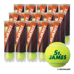 【10%ポイント対象商品:10月20日まで】ダンロップ DUNLOP  テニスボール St.JAMES(セントジェームス)4球入 1箱(15缶/60球) tennis-station