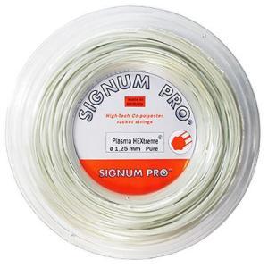 シグナムプロ(SIGNUM PRO) ヘキストリームピュア120/125(Plasma HEXtreme Pure) (ロール200m) 【送料無料】|tennis