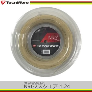 テクニファイバー(Tecnifibre) エヌアールジースクエア(ゲージ:1.24mm/1.32mm) 200mロール[ナチュラル] NRG2 (TFR904、TFR905) tennis