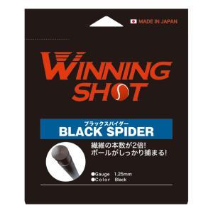 ウィニングショット(WinningShot) ブラックスパイダー(1.25/1.30mm)[ブラック] BLACK SPIDER [M便 1/2]|tennis