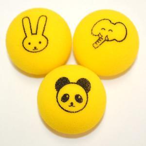 スポンジボール  (ゾウ・ウサギ・パンダ)1個|tennis